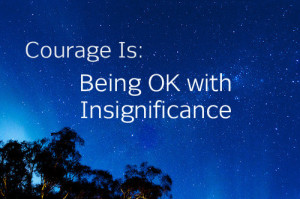 being ok with insignificance